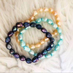 3 Authentic pearl Bracelets